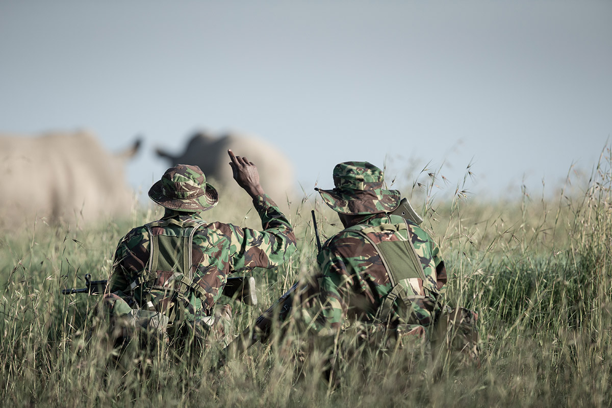 Anti poachers in the field Ol Pejeta