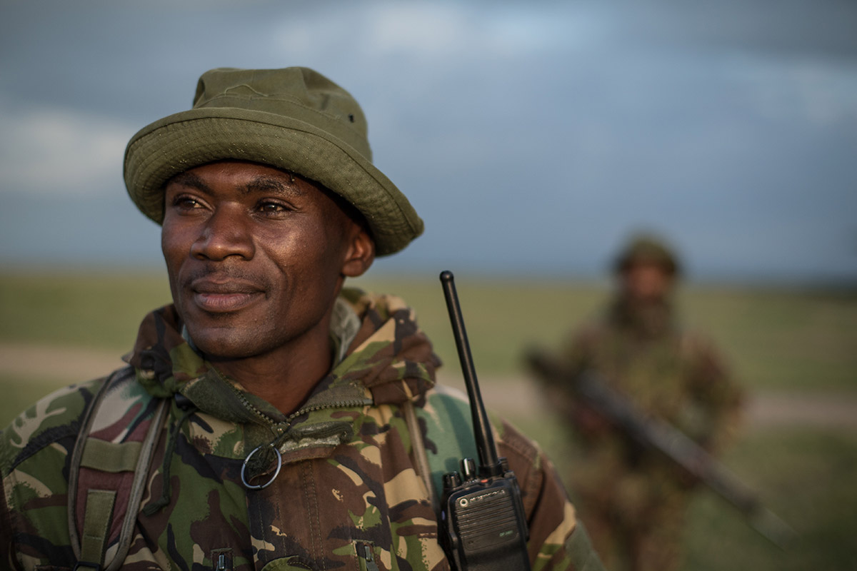 Anti-poachers on patrol at Ol Pejeta