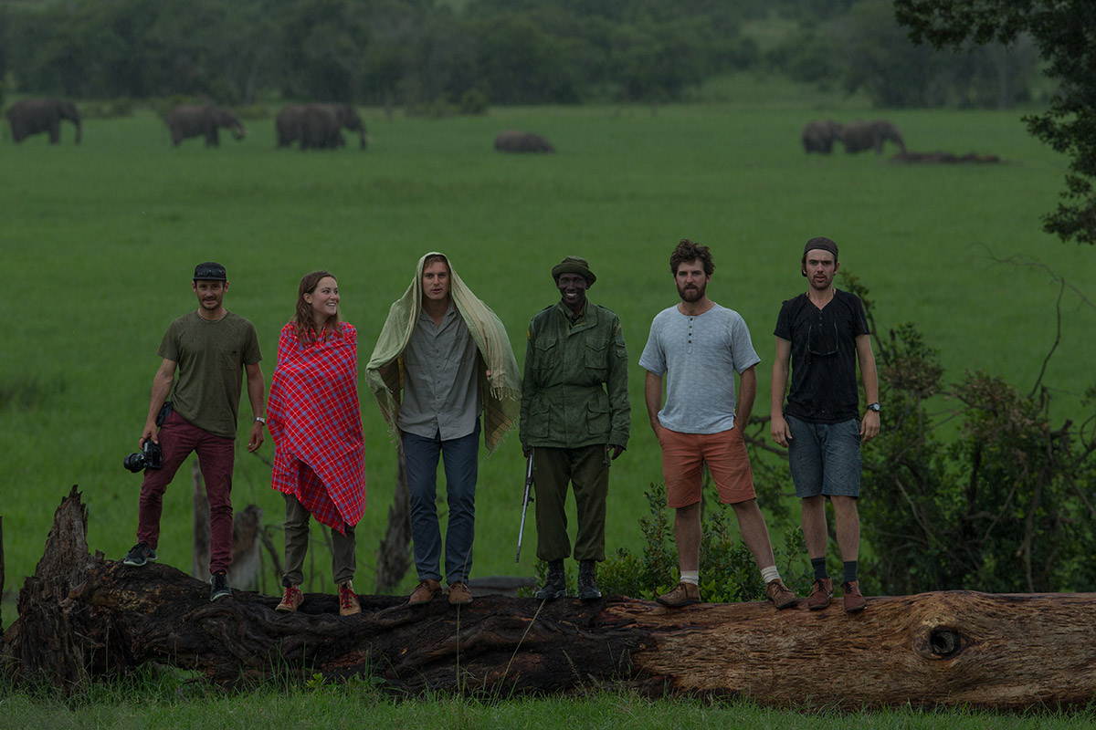The team in Kenya at The Ol Pejeta Conservancy